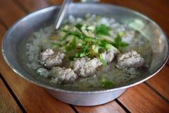 Кипеть рис с свининой Стоковая Фотография RF