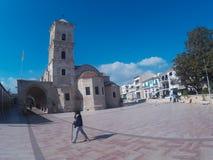 Кипр, Ларнака, Европа - январь 31, 2018, церковь Святого Лазаря стоковое изображение