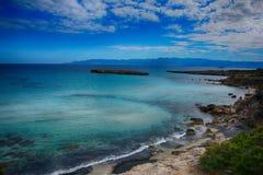 Кипр, Akamas, голубая лагуна Стоковая Фотография