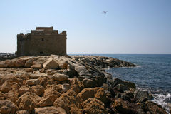 Кипр Paphos Замок Стоковые Фото