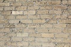 Кирпичи гравия и песка в текстуре стены Стоковая Фотография
