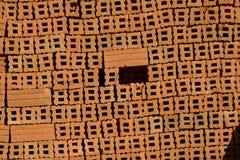 Кирпичи глины в Бирме Стоковая Фотография