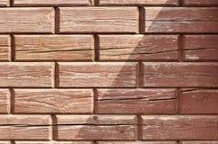 Кирпичи - деревянная tileable текстура Стоковые Изображения