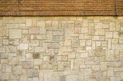 Кирпичи и текстура предпосылки стены утесов Стоковые Изображения