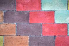 кирпичи кирпича много старая стена текстуры абстрактная предпосылка цветастая Стоковое Изображение RF