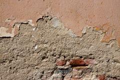 кирпичи треснули старую стену текстуры Стоковые Фотографии RF