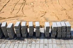Кирпичи цемента на мостоваой Стоковое Изображение RF