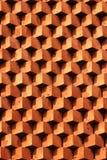 Кирпичная кладка картины Sawtooth Декоративная красная кирпичная стена как предпосылка Стоковое Изображение RF