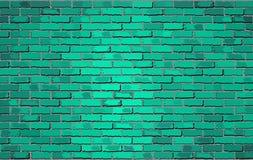Кирпичная стена бирюзы Стоковое Изображение RF