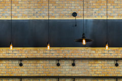 Кирпичная стена и доска мела Стоковые Фото