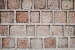 Кирпичная стена, квадратное Bolck Стоковые Фотографии RF