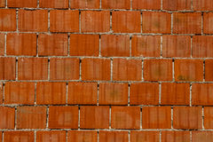 Кирпичная стена красной глины Стоковое Изображение