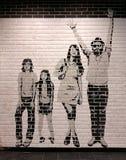 Кирпичная стена нового grunge белая и черная Стоковое фото RF