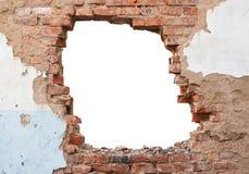 Кирпичная стена отверстия Стоковое Изображение