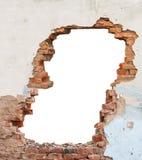 Кирпичная стена отверстия стоковые фото