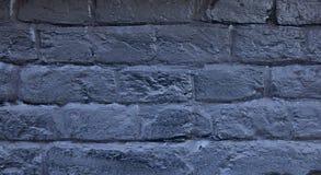Кирпичная стена покрашенная в сини Предпосылка старой винтажной голубой кирпичной стены голубая кирпичная стена Кирпичная стена у Стоковая Фотография RF