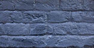 Кирпичная стена покрашенная в сини Предпосылка старой винтажной голубой кирпичной стены голубая кирпичная стена Кирпичная стена у Стоковое Изображение RF