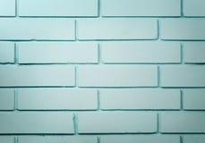 Кирпичная стена покрашенная в сини Стоковые Фото