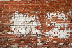 Кирпичная стена старого стиля для текстуры или предпосылки Винтажное feame кирпичной стены с комнатой для текста Стоковые Изображения RF