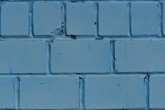 Кирпичная стена Стена покрашенная в голубом цвете текстура Стоковое фото RF