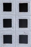 Кирпичная стена с квадратной картиной Стоковое Фото