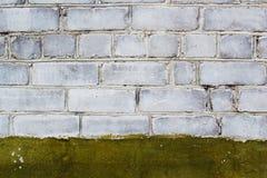 Кирпичная стена с краской Стоковые Изображения