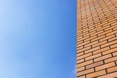 Кирпичная стена с небом Стоковые Фотографии RF