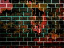 Кирпичная стена с grung Стоковые Фото