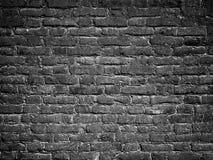 Кирпичная стена текстуры черная как предпосылка, поверхность grunge с VI Стоковое Фото