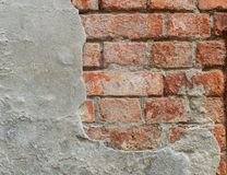кирпичная стена улица гипсолита Стоковое Фото