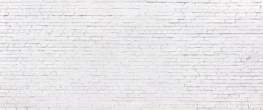 Кирпичная стена Grunge белая, побеленная предпосылка кирпичной кладки стоковая фотография rf