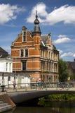 Кирпичное здание Гента Бельгии старое красивое красное Стоковые Изображения RF