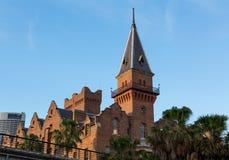 Кирпичное здание ASN в утесах Сиднее Австралии Стоковое Фото