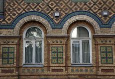 Кирпичное здание XIX века Стоковая Фотография RF