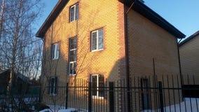 кирпич жилищного строительства Стоковое Фото