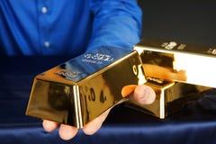 Кирпич золота Стоковые Фотографии RF