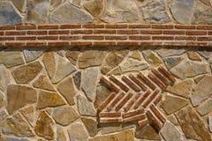 Кирпич и каменная стена Стоковое Изображение
