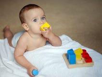кирпич младенца Стоковая Фотография