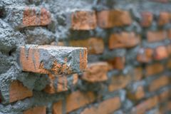 Кирпич понедельника на стене Стоковое Изображение RF
