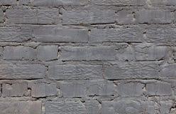 Кирпич серый, черная, яркая текстура стены предпосылки Стоковая Фотография RF
