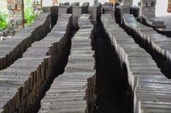 Кирпич строительный материал используемый для того чтобы сделать стены Стоковое Изображение