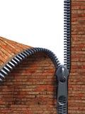кирпич unzip стена Стоковое Изображение