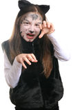 киска девушки costume кота Стоковые Фото