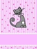 киска карточки Стоковые Изображения RF