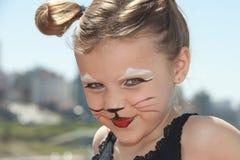 киска стороны кота Стоковое Фото