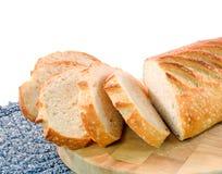 кислая теста хлеба отрезанная Стоковая Фотография