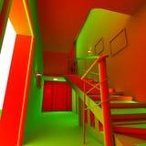 кисловочный интерьер квартиры 3d Стоковая Фотография RF