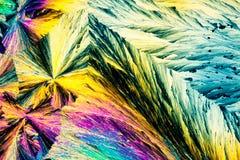 кисловочный росноладанный поляризовыванный свет кристаллов Стоковая Фотография