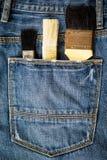 кисти в карманн джинсов Стоковые Изображения