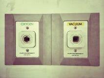 Кислород и порт вакуума Стоковые Изображения RF